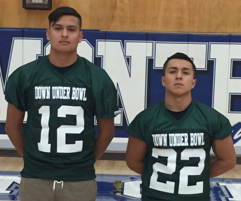 Graduating Lions Edward Dominguez (left) & Roy Barajas (right)...Getting geared up for Down Under Bowl in Australia.