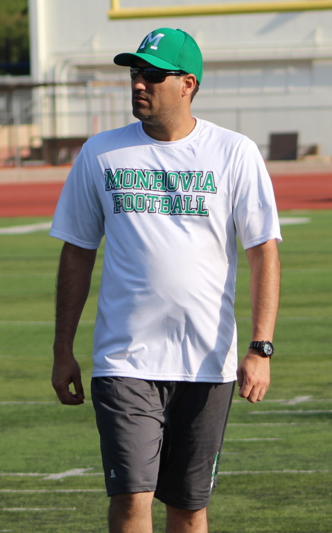 Monrovia DB Coach Jacob Ochoa