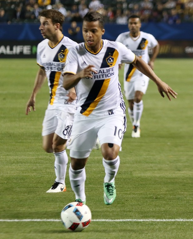 Without Gyasi Zardes and Robbie Keane, touches were few and far between for Giovani dos Santos. (Photo by Duane Barker)