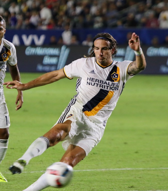 Alan Gordon's shot on goal in the second half just missed wide left. (Photo by Duane Barker)