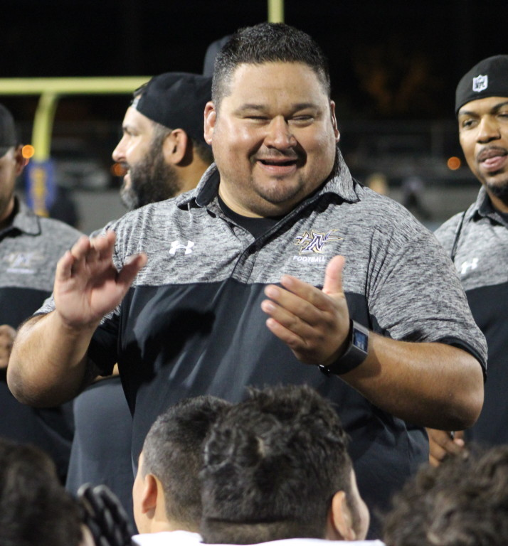 Northview HC Marcel Perez was all smiles after the victory