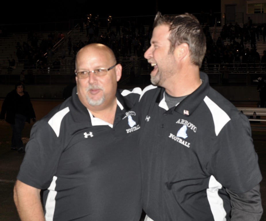 Jim Singiser & Chris MacMillan have served together as HC & OC since 2003. (Photo by Joe T.)