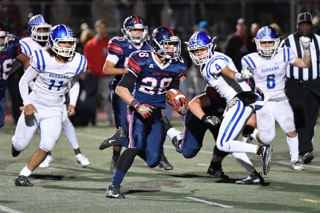 Yorba Linda's Jayden Webb scored four times. (Photo by Downtown Doug Brown)