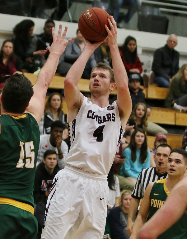 Joey Schreiber led the Cougars and all scorers with 23 points
