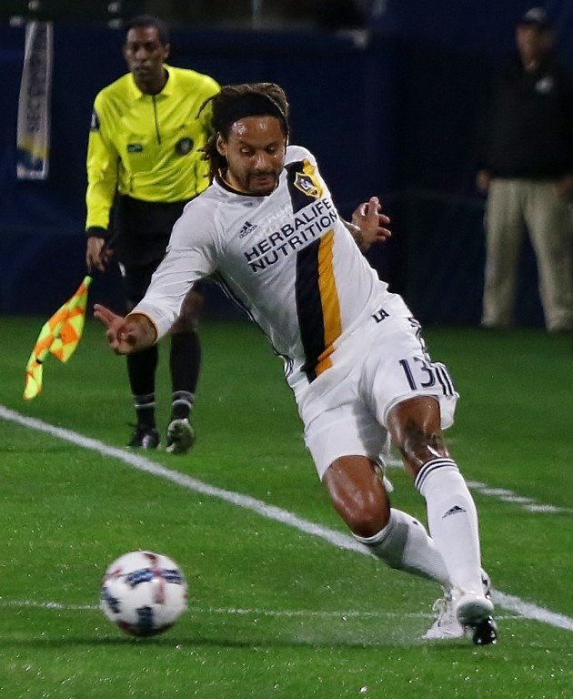 Jermaine Jones makes his preseason debut with the Galaxy (Photo by Duane Barker)