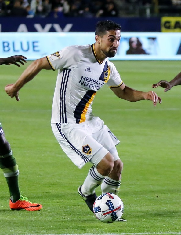 Sebastian Lletget looks to make a play for LA.