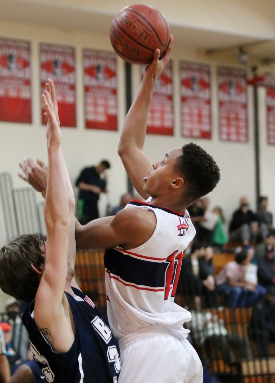 Chris Austin finished with 10 for Maranatha. (Photo by Duane Barker)