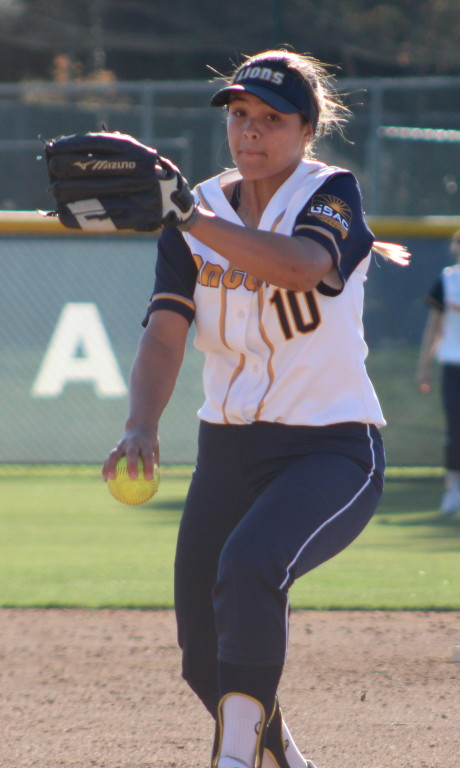 Vanessa Dwyer threw a complete game victory in her debut for Vanguard University