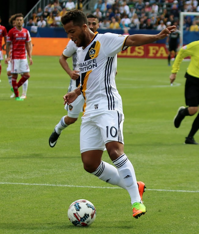 Giovani dos Santos got the only Galaxy goal in the loss to FC Dallas. (Photo by Duane Barker)