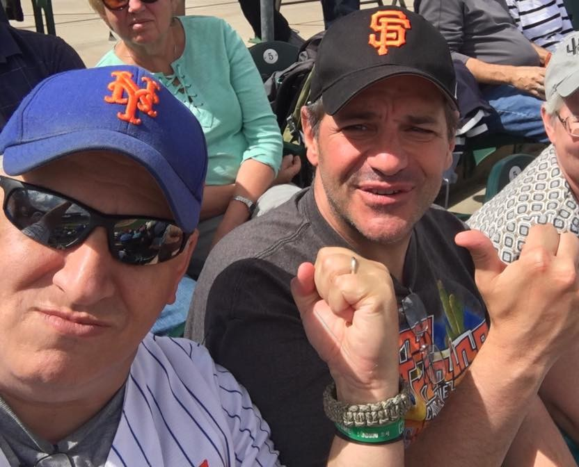 "Myself & Obnoxious Giants Fan--Dave Nordel...Current President of ""The Mark Melancon Fan Club."""